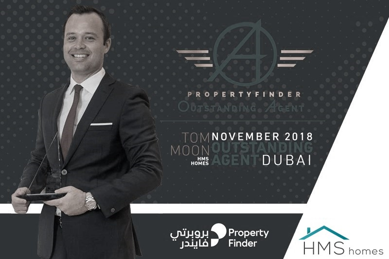 Meet our Sales Manager Tom Moon – Property Finder's Outstanding Agent  for November 2018